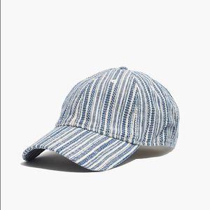 Madewell Baseball Cap in Textured Stripe